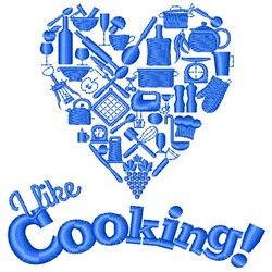 I Like Cooking embroidery design