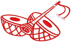 Musical Instruments embroidery design