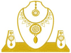 Jewelry Display embroidery design