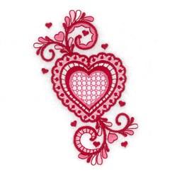 Jacobean Valentine Love embroidery design