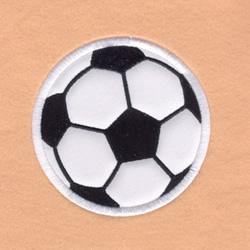 Soccer Satin Applique embroidery design