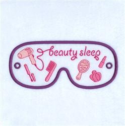 Beauty Sleep Mask embroidery design