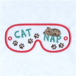 Catnap Mask embroidery design