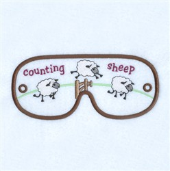 Counting Sheep Mask embroidery design