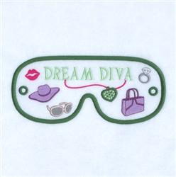 Dream Diva Mask embroidery design