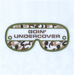 Goin Undercover Mask embroidery design