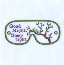 Goodnight Mask embroidery design
