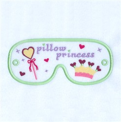 Pillow Princess Mask embroidery design