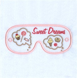 Sweet Dreams Mask embroidery design