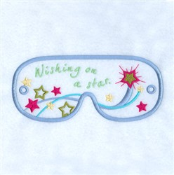 Wishing On A Star Mask embroidery design