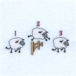 Counting Sheep Line embroidery design