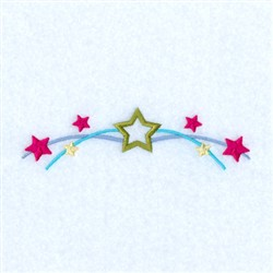 Wishing On A Star Line embroidery design
