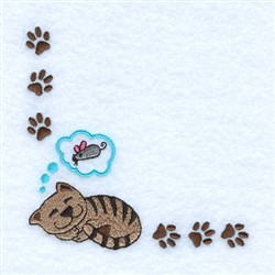 Catnap Corner embroidery design