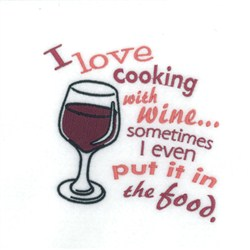 Cooking With Wine embroidery design