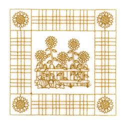 Sunflower Quilt Square embroidery design
