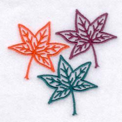 Maple Leaf Trio embroidery design