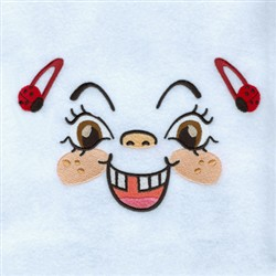 Excited Girl embroidery design