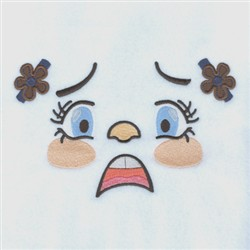 Scared Girl embroidery design