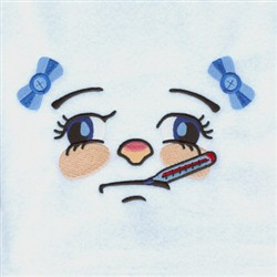 Sick Girl embroidery design