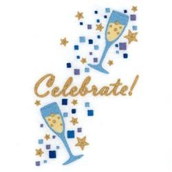 Celebrate Wine Tote embroidery design