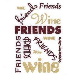 Wine Friends Tote embroidery design