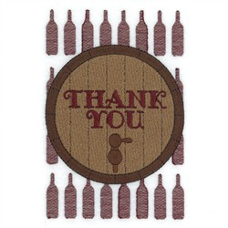 Thank You Wine Tote embroidery design