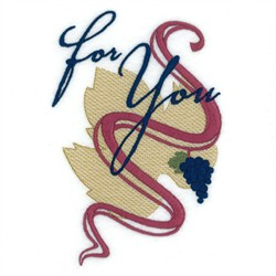 For You Wine Tote embroidery design