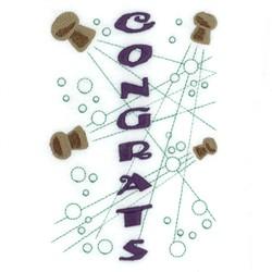Congrats Wine Tote embroidery design
