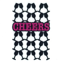 Cheers Wine Tote embroidery design