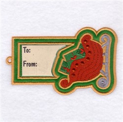 Sleigh Gift Tag embroidery design