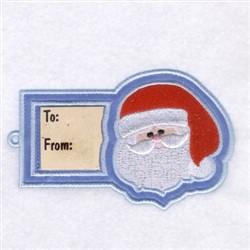 Santa Gift Tag embroidery design