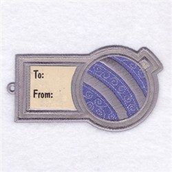 Ornament Gift Tag embroidery design
