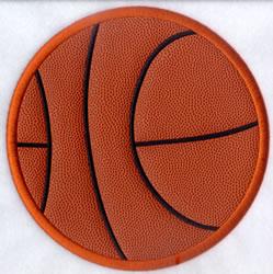 """Basketball Applique Ball 8"""" High (Satin) embroidery design"""