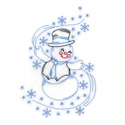 Swirling Snowman embroidery design