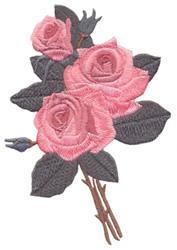 Antique Roses Bouquet embroidery design