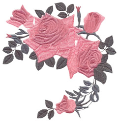 Antique Roses embroidery design