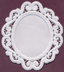Lace Oval Applique embroidery design