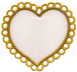 Lace Heart Applique embroidery design