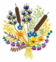 Thanksgiving Bouquet embroidery design