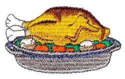 Roasted Turkey embroidery design