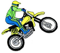Racing Dirt Bike embroidery design