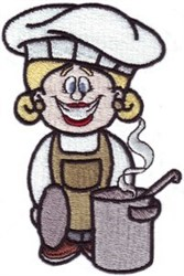 Lady Chef embroidery design
