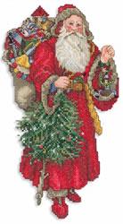 Tree Santa embroidery design