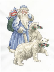Santa with Bears embroidery design