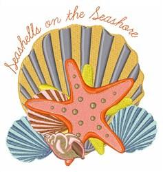 Seashells & Seashore embroidery design