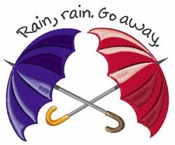 Rain Go Away embroidery design