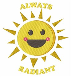 Always Radiant embroidery design