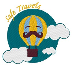 Safe Travels embroidery design