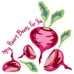 Beets For You embroidery design