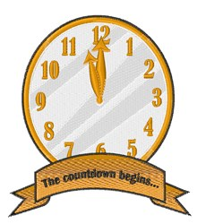the Countdown embroidery design